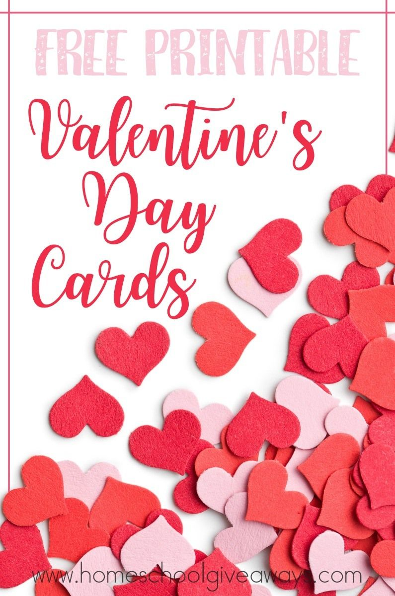 Free Printable Valentines Day Cards Holiday Freebies Pinterest