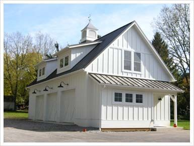 White Dormers Lights Cupola In This Garage Carriage House