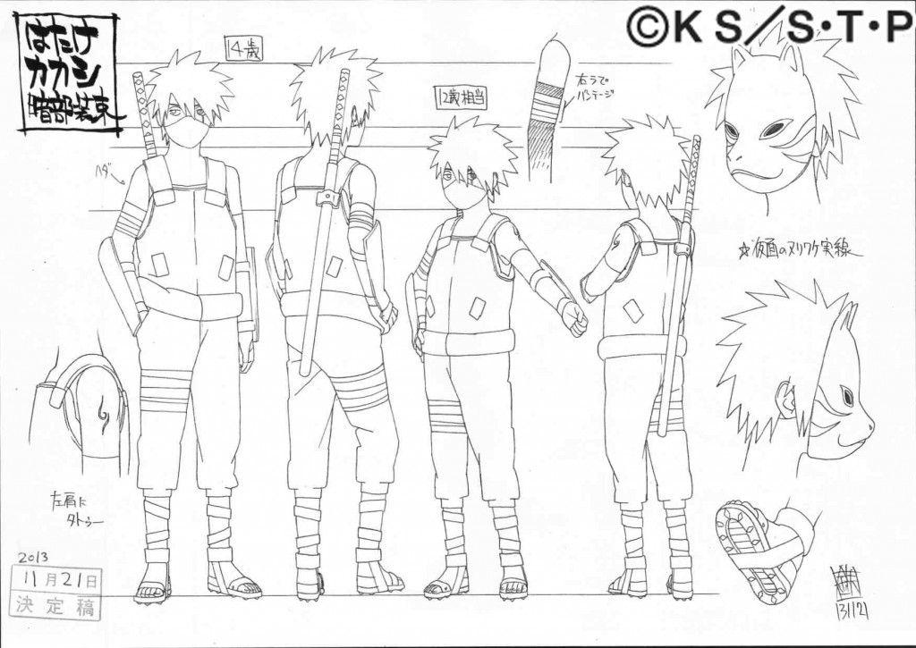 Naruto Character Design Sheet : G � yamato tenzou kinoe