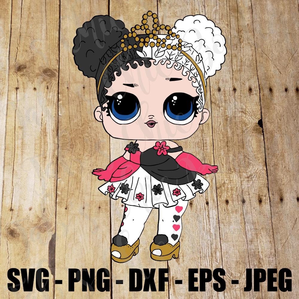 Glitter Heartbreaker Lol Surprise Doll Svg Jpeg High Def 300 Dpi L O L Eps Dxf Png Topper Sublimation Iron On Design Svg Png Lol