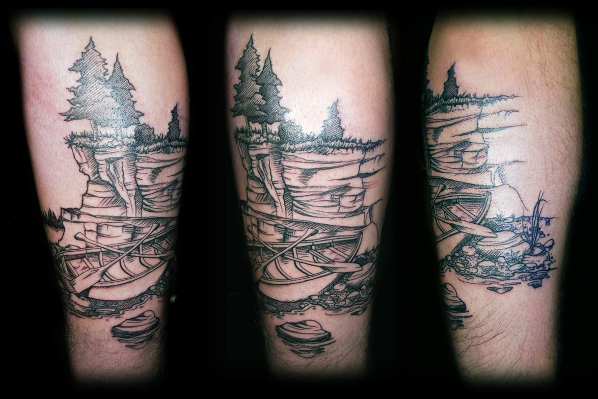 Canoe tattoo google search tattoos pinterest for East river tattoo price