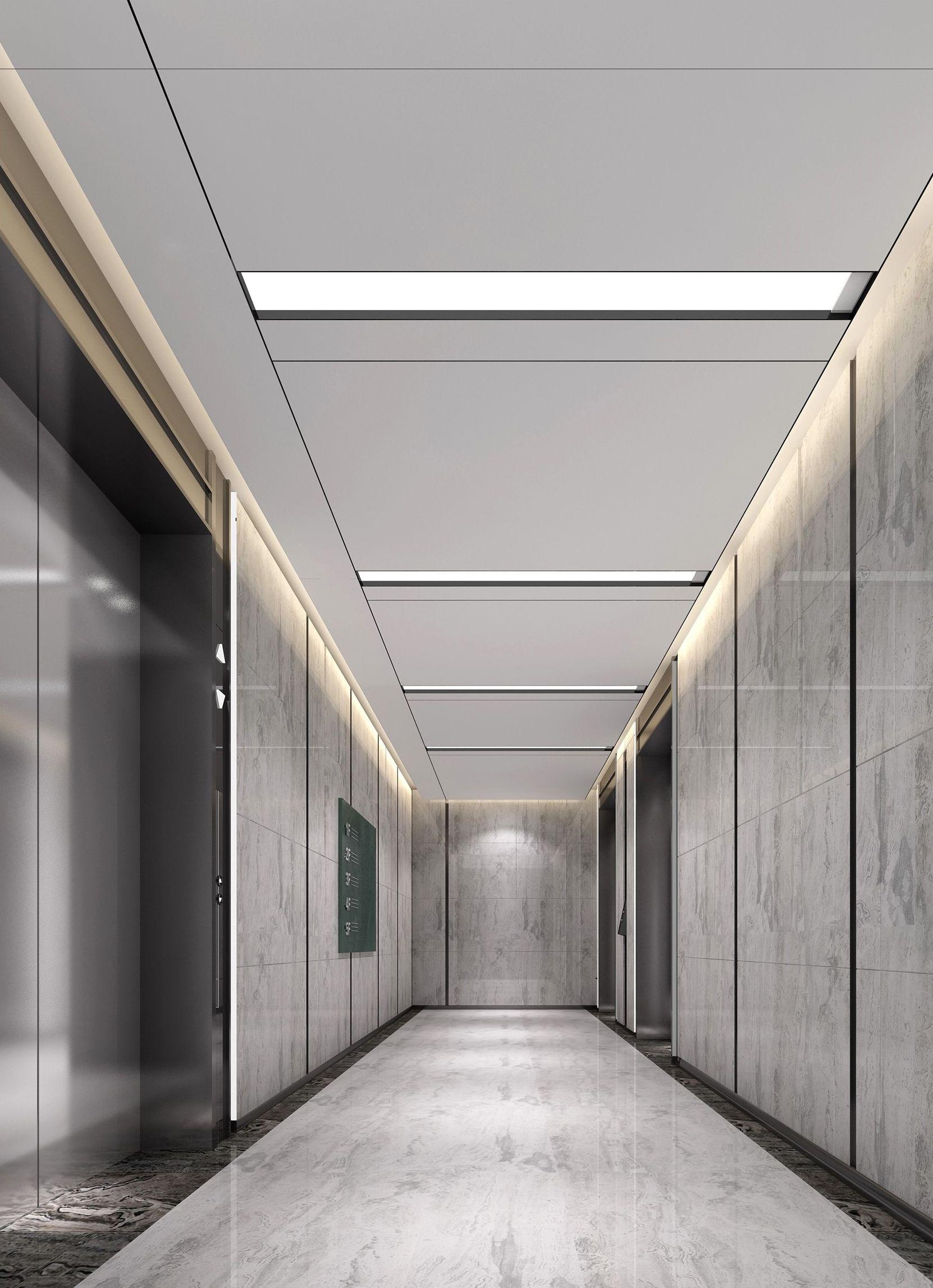 Gt lift shaft01 hallway pinterest lobbies corridor for Office hallway design