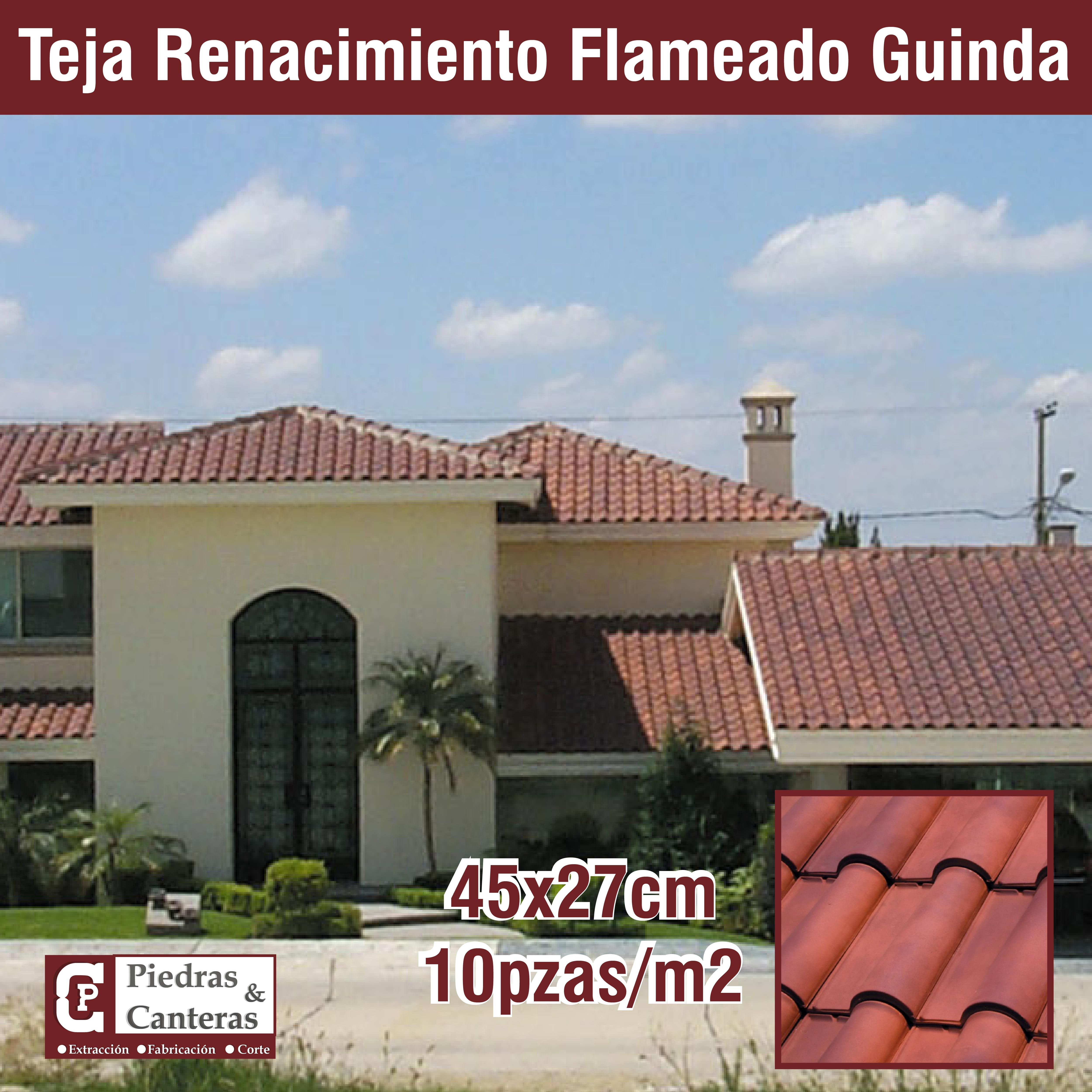 Teja Renacimiento Flameado Guinda Casas Grandes Tejas De Barro Teja