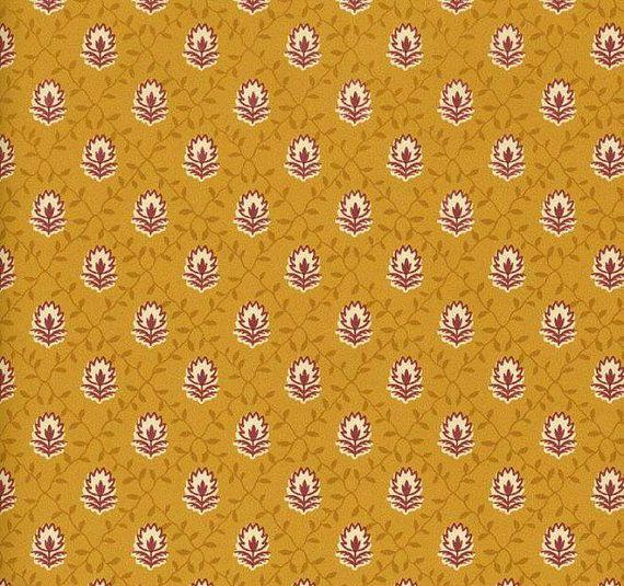 Pierre Deux Diamond Red Gold Petite Vine Lattice Wallpaper