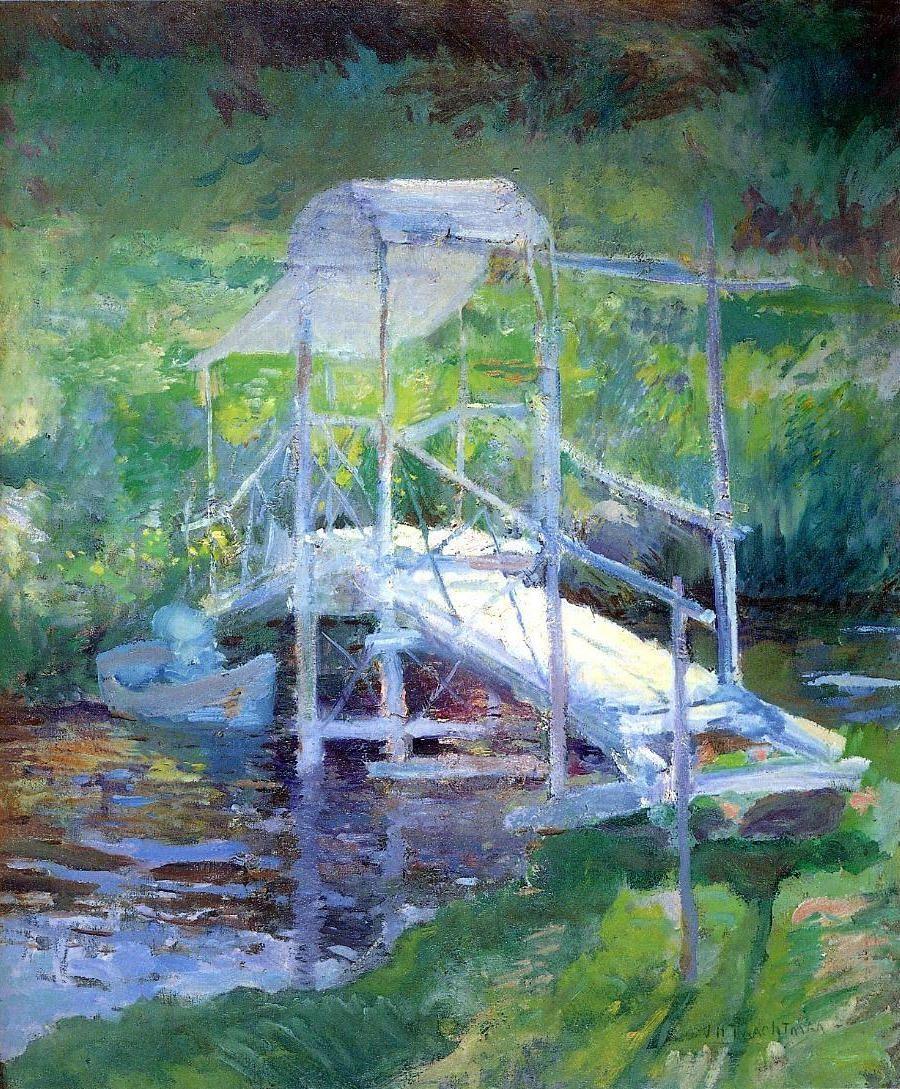 John Henry Twachtman (American, 1853-1902). The White Bridge, 1900. Memorial Art Gallery (University of Rochester), Rochester, NY, US