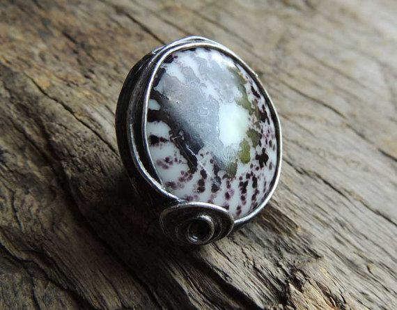 Amazing ring one of a kind statement ring glass ring by MARIAELA, $39.00