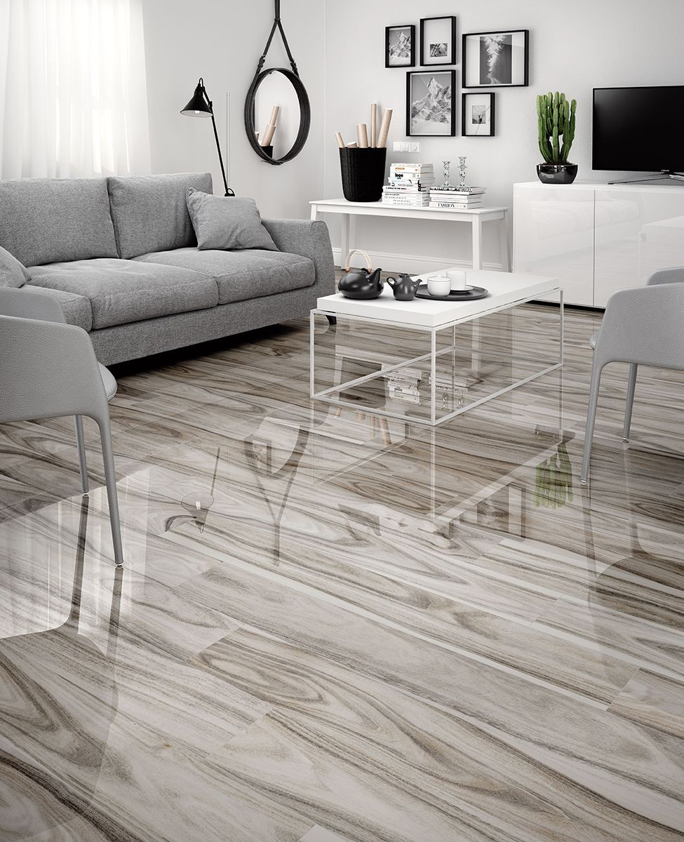 9 Porcelain Wood Modern Delano Mossgrey Pol 8x48 Wood Look Tile Living Room Wood Floor Living Room Tiles
