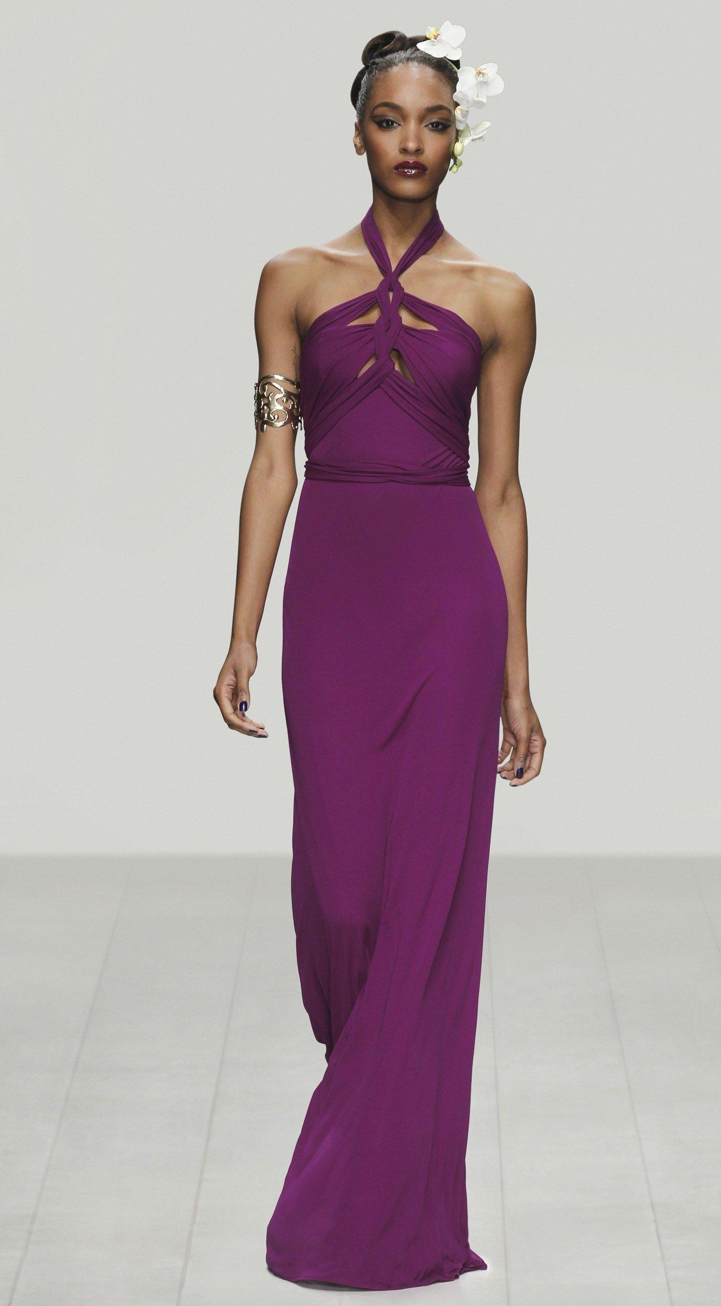 Abendkleid Violett Seidenjersey Issa London Abendkleid Kleider Party Kleider