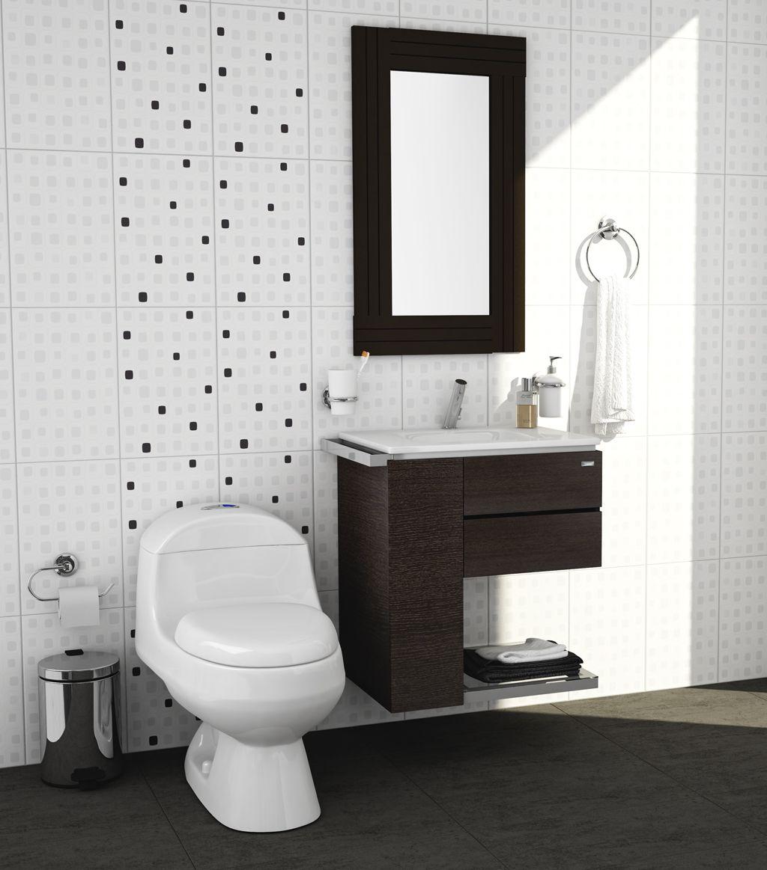 Sanitarios y muebles para ba os peque os corona imagina for Banos modernos para espacios pequenos