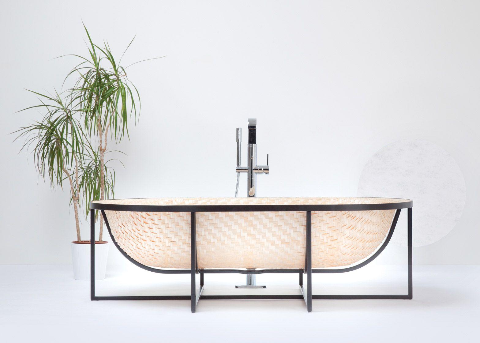 Otaku _ Tal Engel // Woven Bathtub Draws On Traditional Asian Boat Building  Techniques