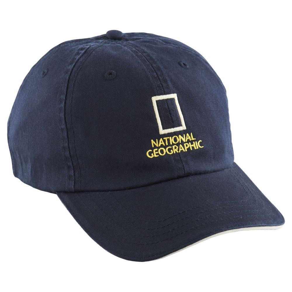 National Geographic Navy Baseball Cap  09879173260