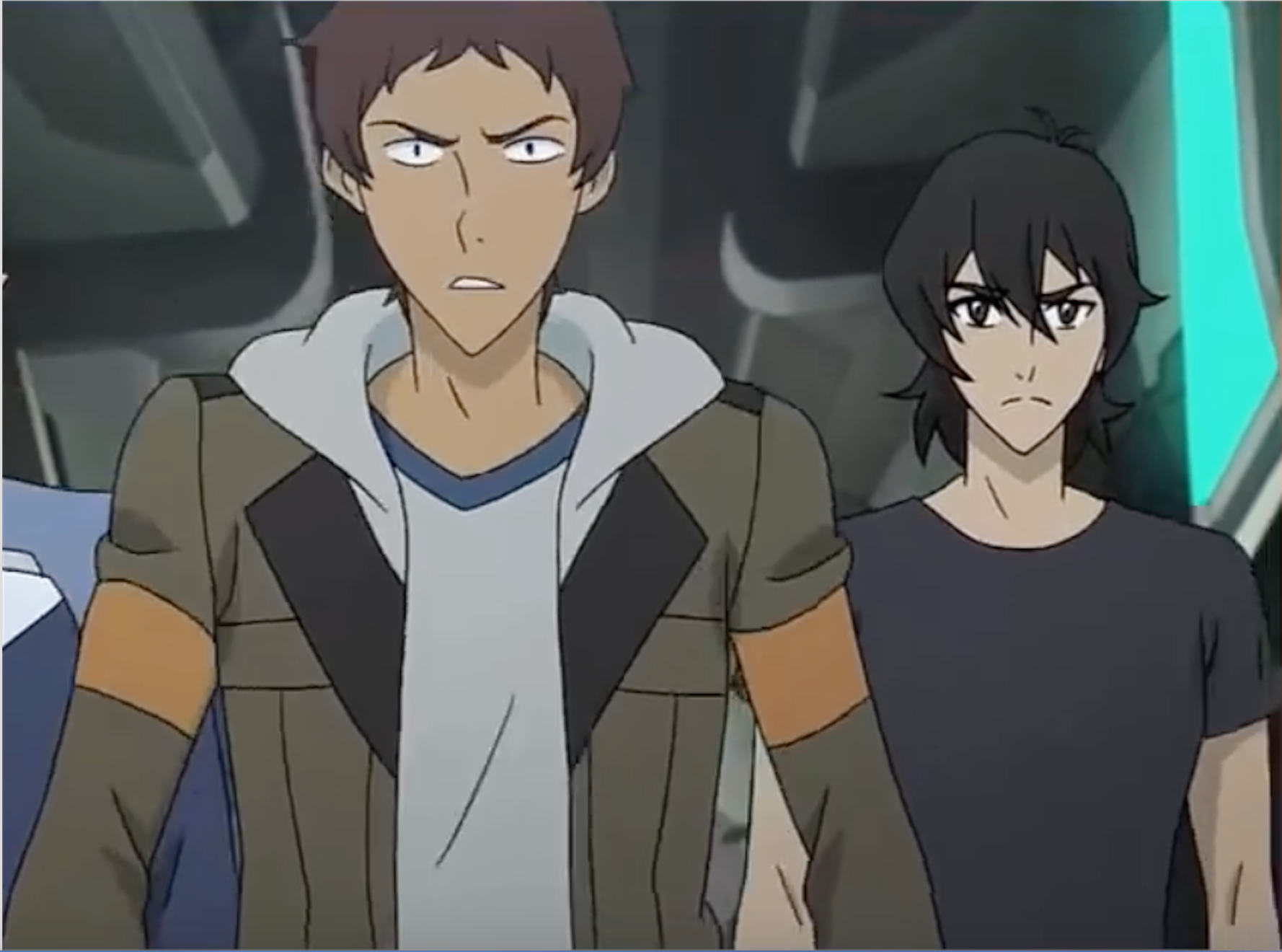 Lance And Keith Walked And Have Found Hunk And Pidge From