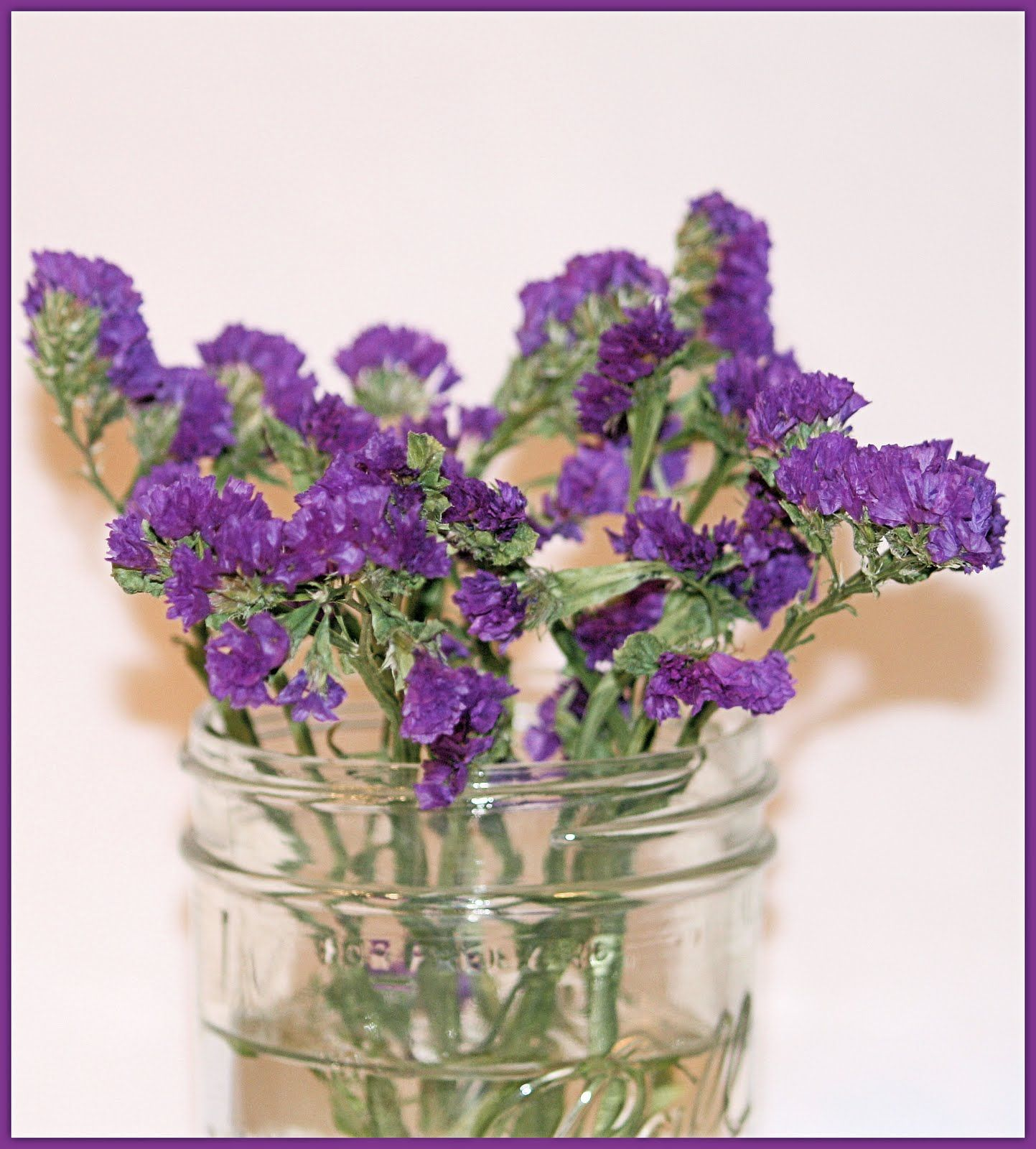 purple statice filler flower instead of lavender due to