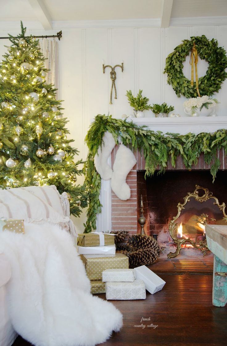 french country cottage holiday housewalk 2014 home tour - French Country Christmas Decorating Ideas