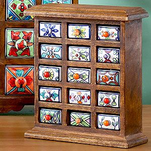 Handmade Ceramic Drawer Wood Chest 29 99 Can Be Use To