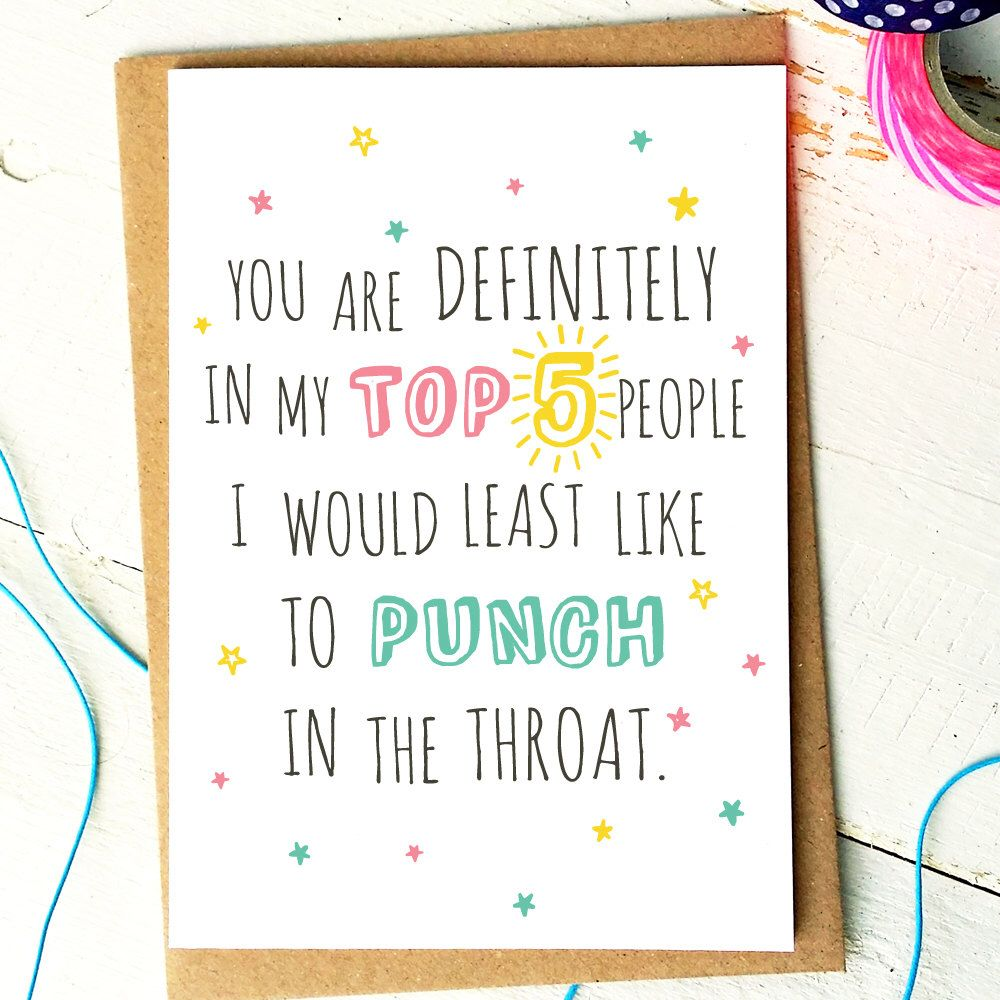 Pin By Heather Allred On Snarky Shit Birthday Cards For