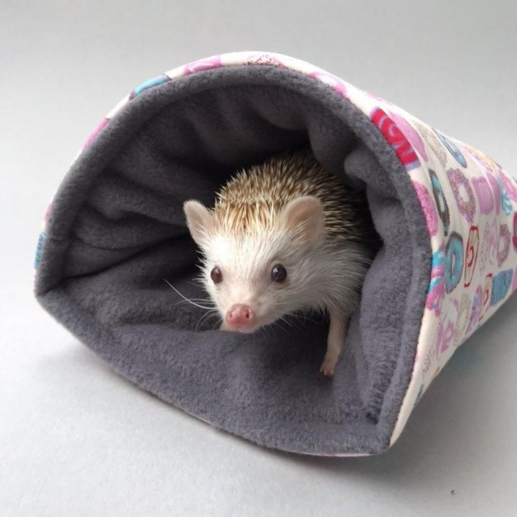 Donuts Cosy Snuggle Cave Padded Stay Open Snuggle Sack Hedgehog