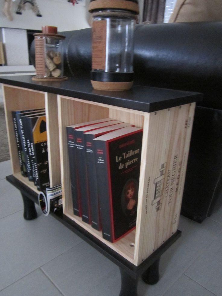 Furniture end of sofa in wine case