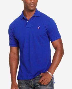 Polo Ralph Lauren Men's Classic-Fit Mesh Cotton Polo - Blue XXL