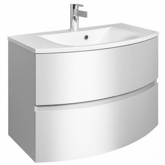 Crosswater Bauhaus Svelte White Gloss 80 Vanity Unit
