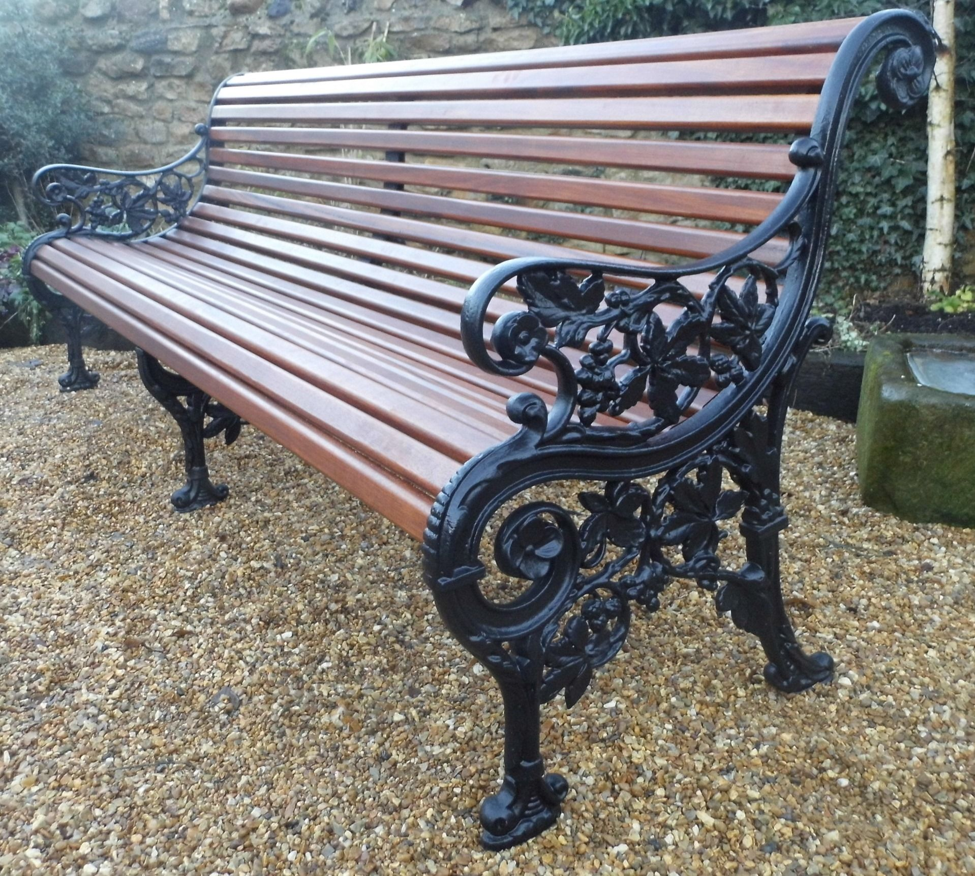 Rare Mickelthwaite Victorian Bench Seven Foot Long Cast Iron