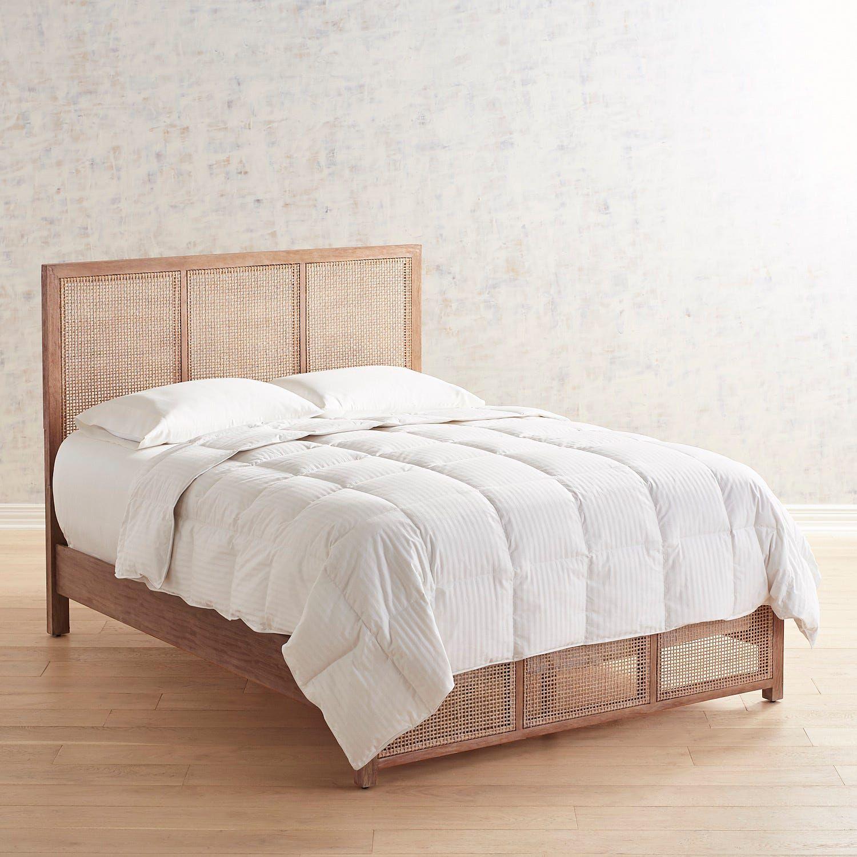 Kenai Rattan Wood Queen Bed Pier 1 Queen Bed Frame Queen