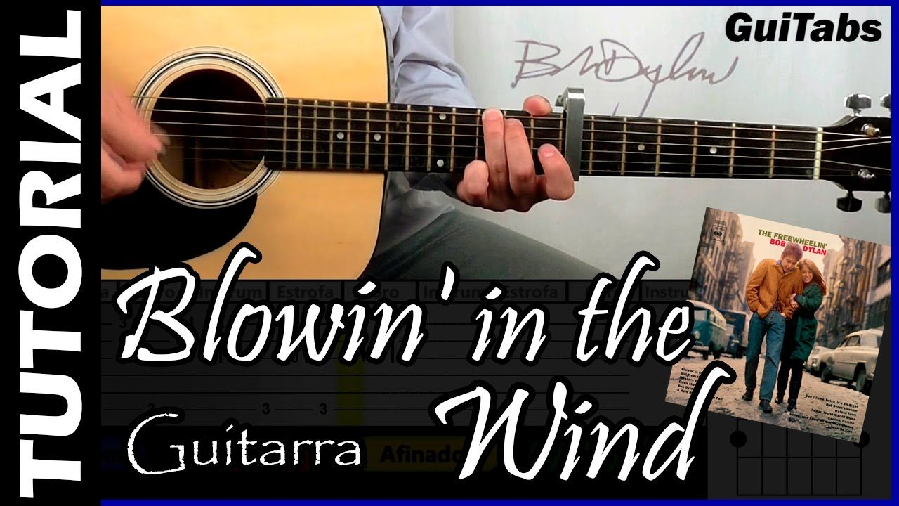 How To Play Blowin In The Wind Bob Dylan Guitar Tutorial