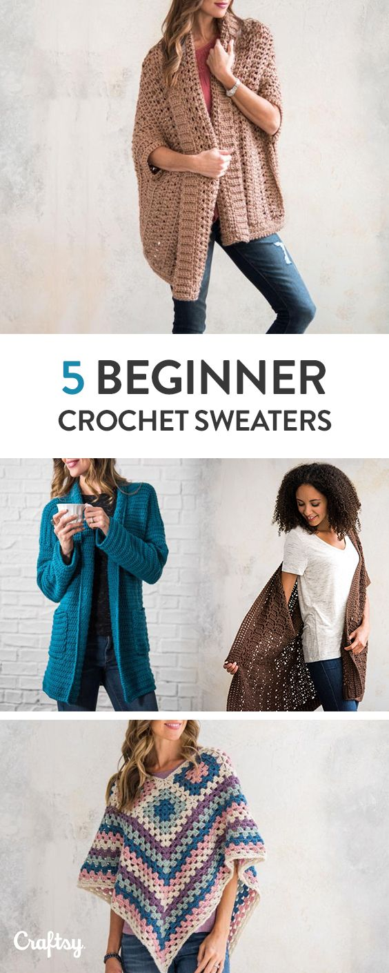 Beginner Sweater Projects - Pattern & Yarn Mailed to You!   tejidos ...