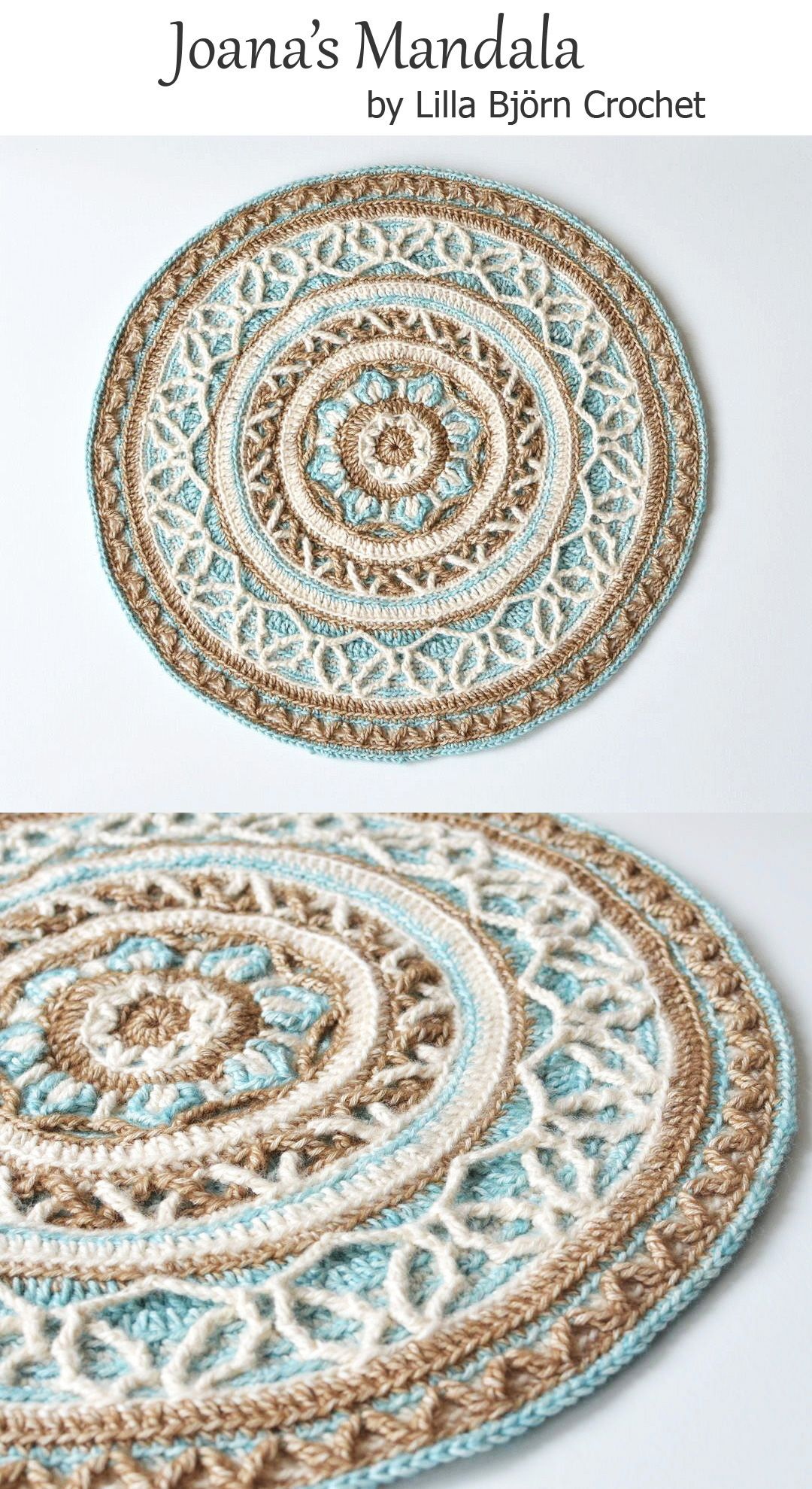 Joana\'s mandala is made in overlay crochet technique. It can be used ...