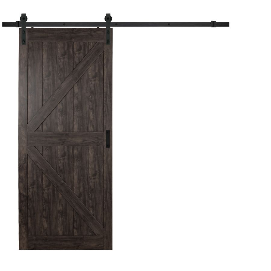 Iron Aged Grey Solid Core K Frame Barn Interior Door Common 36 In X 84 In Actual 36 In X 84 In Interior Barn Doors House Colors Home Remodeling