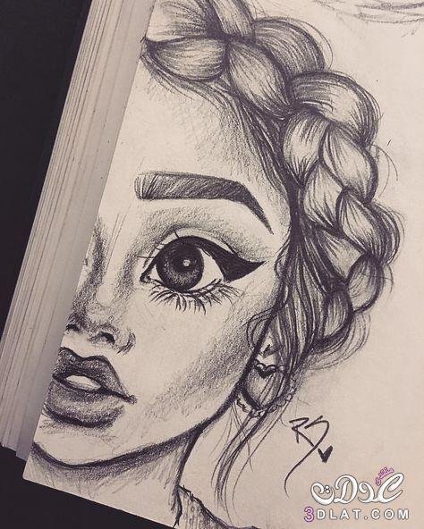 بنات مرسومة بالقلم الرصاص روعه رسومات بالرصاص 3dlat Net 26 17 0094 Girl Drawing Sketches Art Drawings Sketches Art Drawings