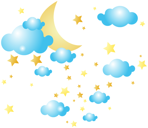 moon clouds and stars png clip art image clipart pinterest art rh pinterest com clipart of clouds black and white clip art of clouds and sun