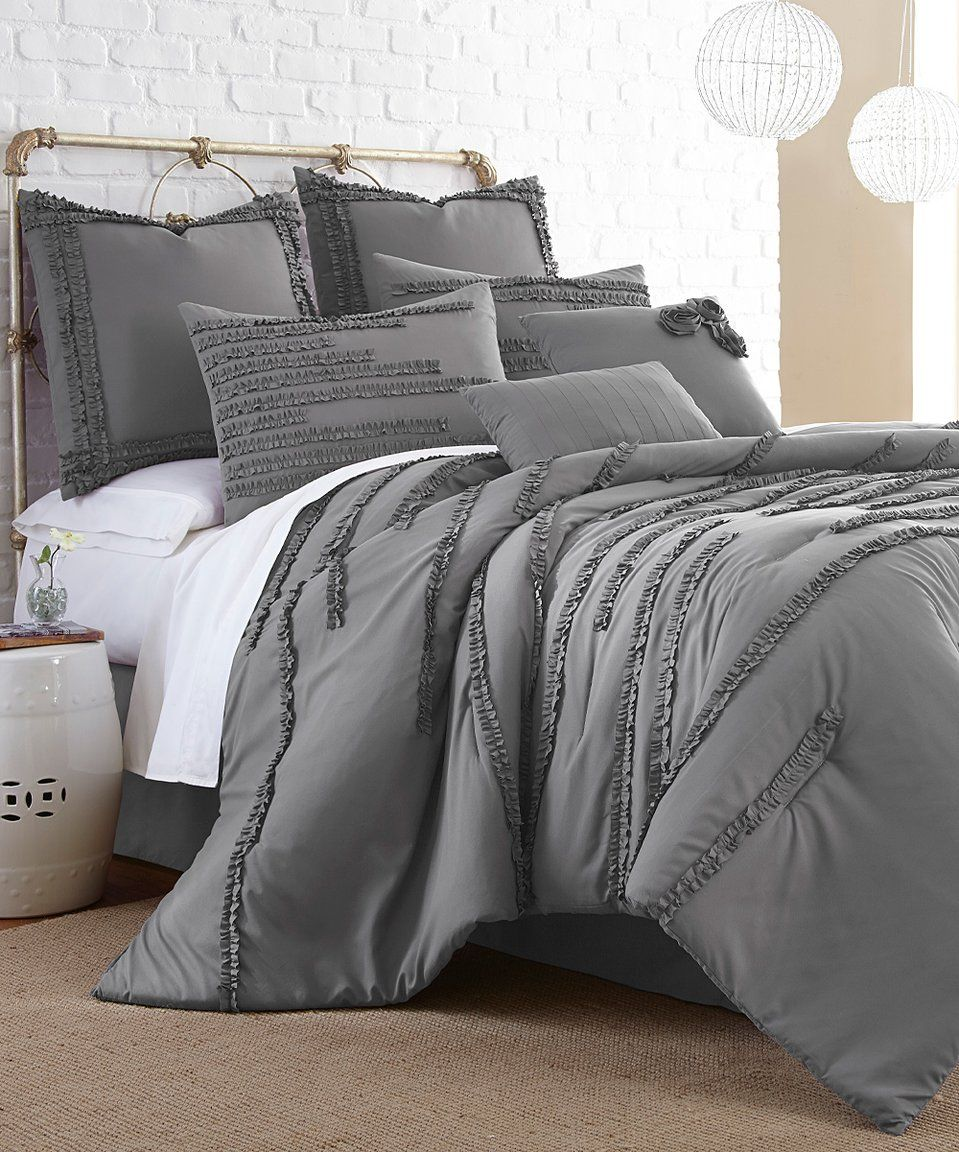 Take A Look At This Dark Gray Collete Eight Piece Comforter Set