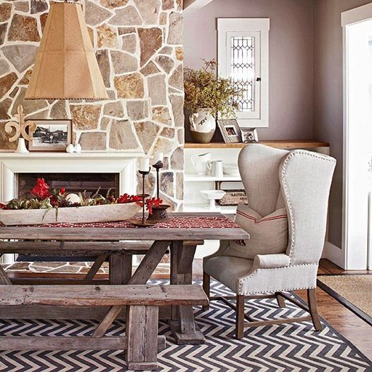 How To Modernize Your Dining Room This Would Be The Look Using Wing Chairs