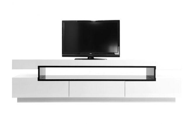 soldes meuble tv miliboo, achat pas cher meuble tv design laqué ... - Meuble Tele Design Pas Cher