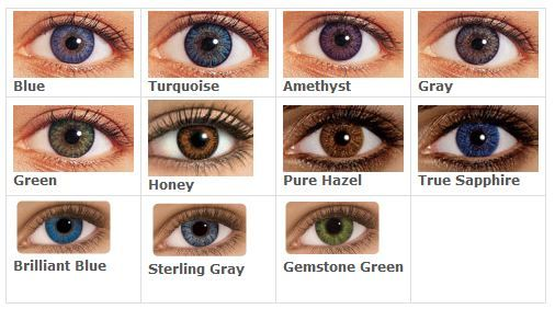 Freshlook colorblends colorchart writing pinterest eye exam