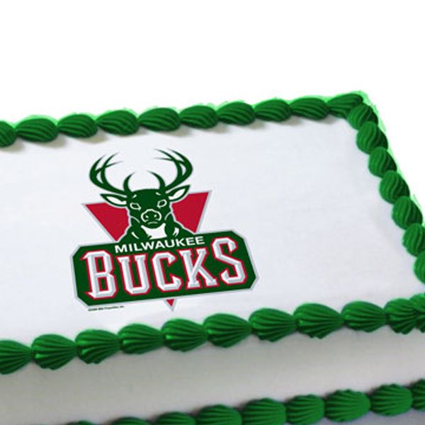 Astounding Nba Milwaukee Bucks Edible Image Cake Decoration With Images Funny Birthday Cards Online Sheoxdamsfinfo