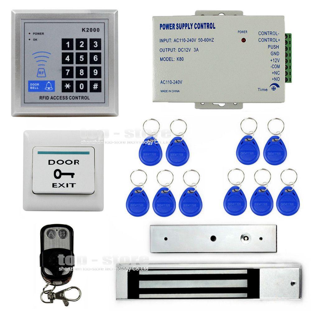 Diysecur Full Complete 125khz Rfid Card Reader Door Access Control Security System Kit 280kg Electric Magnetic Lock K200 Access Control Security System Cards