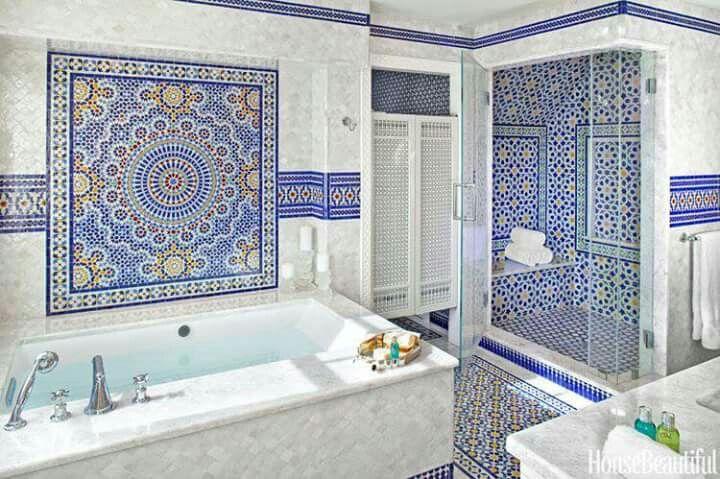 Salle de bain marocaine | MAROC | Salle de bain marocaine ...