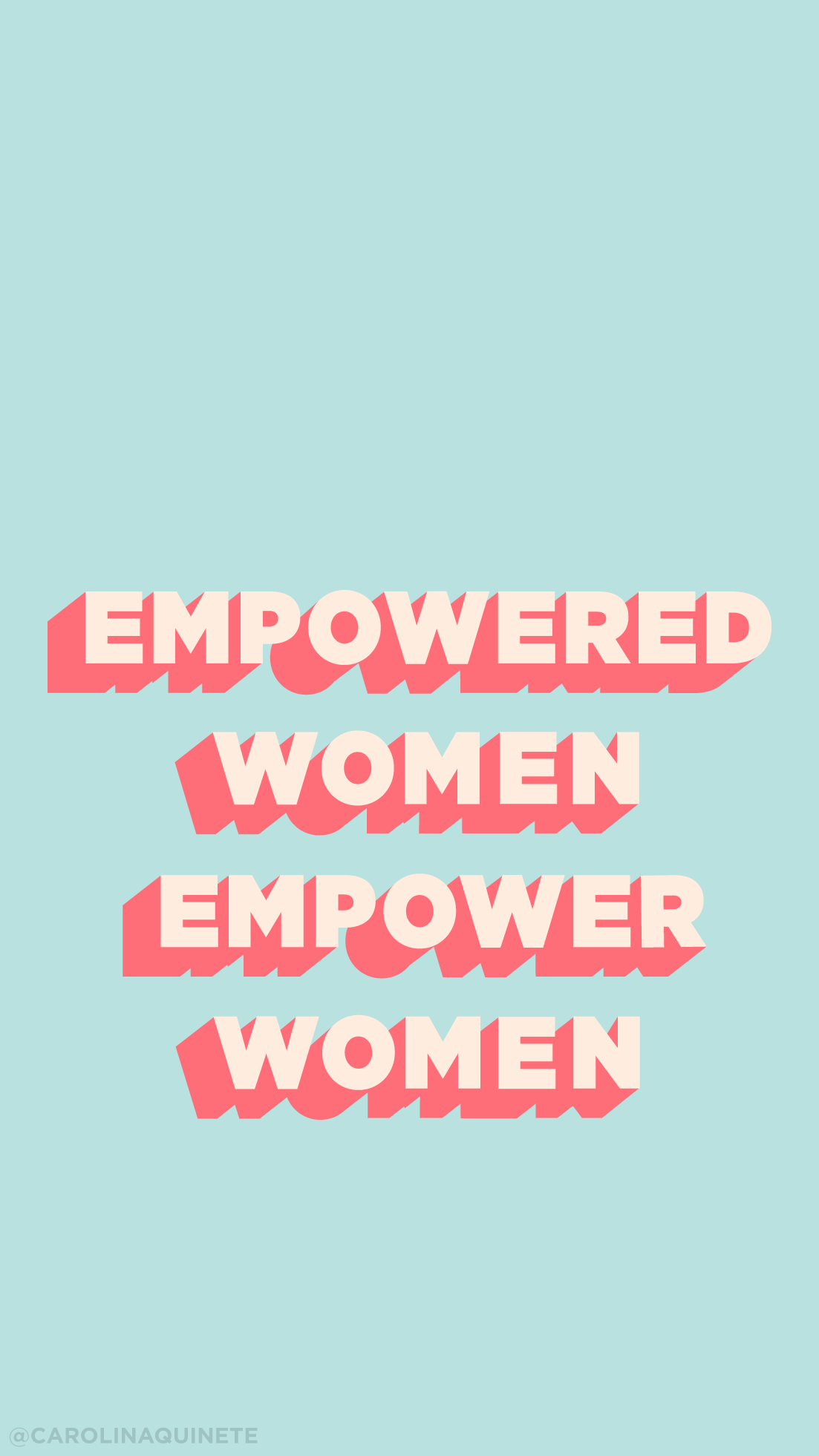 Wallpaper Mobile Empowered Woman International Woman S Day