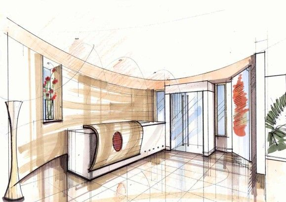 Interior Design Office Sketches office concepts : image 1 | architectural concept drawings