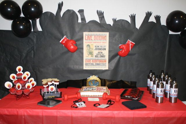 Boxing Birthday Party Ideas Boxing Themed Party Ideas Pinterest Inspiration Boxing Party Theme Decorations