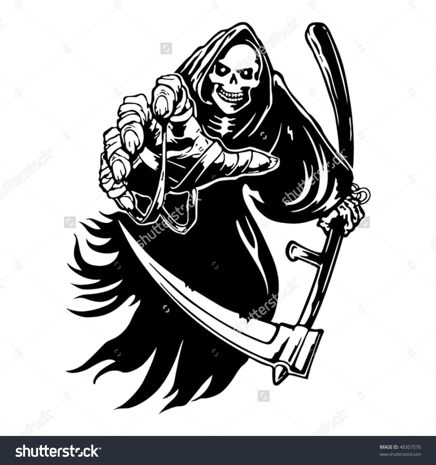 20+ Grim Reaper Clipart Black And White