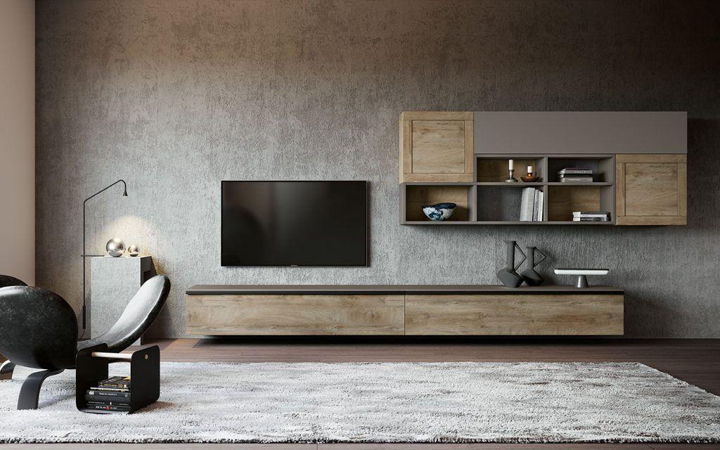 SOGGIORNI MODERNI COMPOSIZIONE 309 | mobili nel 2019 | Living room ...