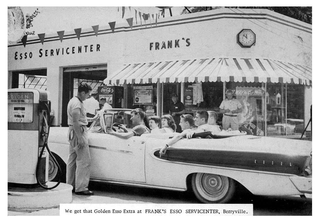 When in Berryville, fill up your Edsel at Frank's Esso