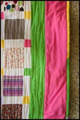 Quilt com roupinhas de bebês...  Tutorial: A Baby Clothes Quilt from start to finish