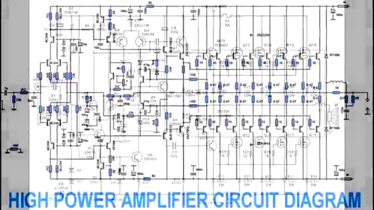 component, power amplifier design youtube class d ... 800watt subwoofer amplifier circuit diagram