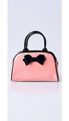 Hell Bunny Sky Blue Black Vintage Inspired Lola Bag
