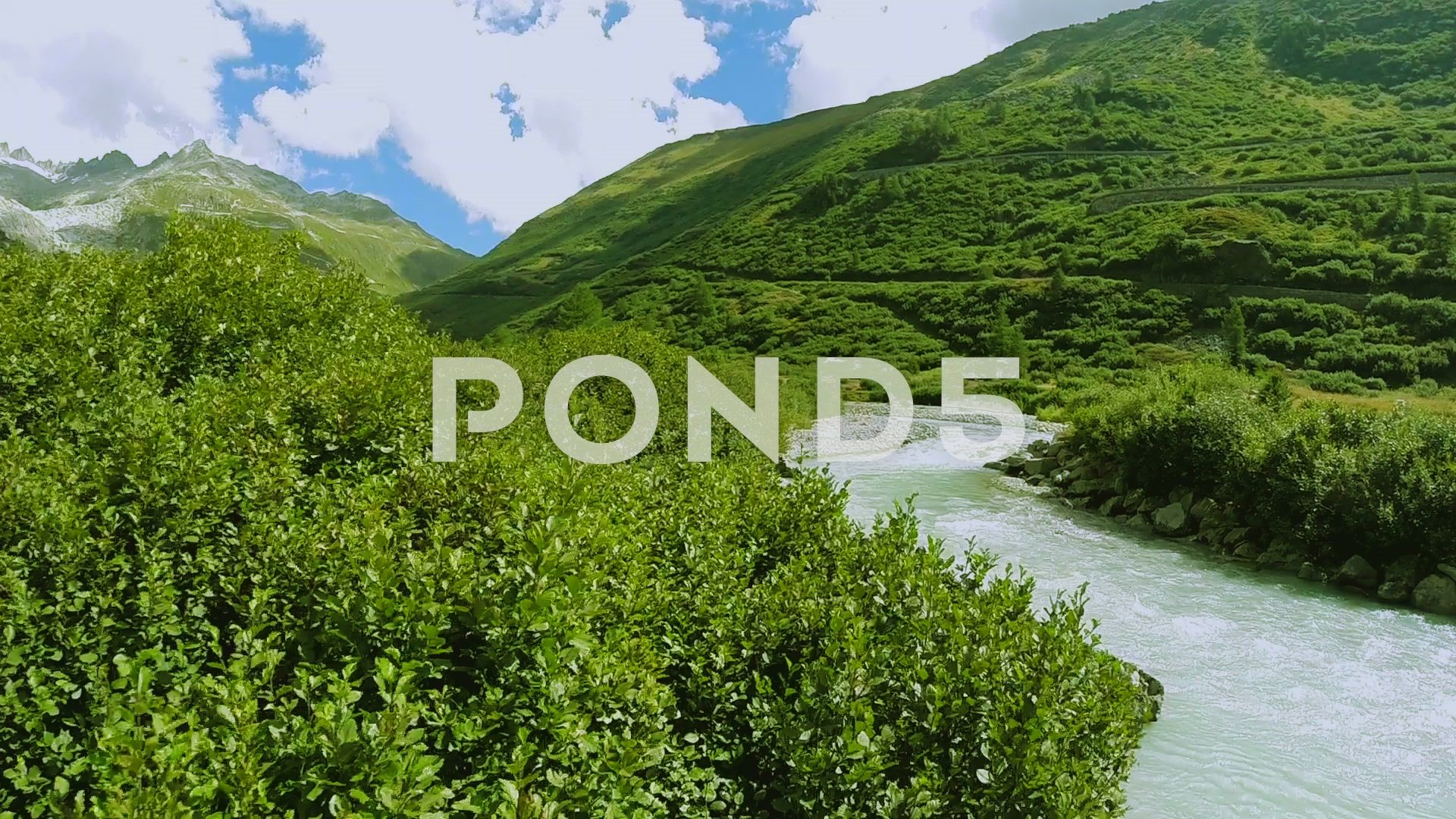 Aerial View Of Epic Mountain River Landscape Scenery Peaceful Nature Background Stock Footage Mountain River Landscape Scenery Nature Backgrounds Aerial View