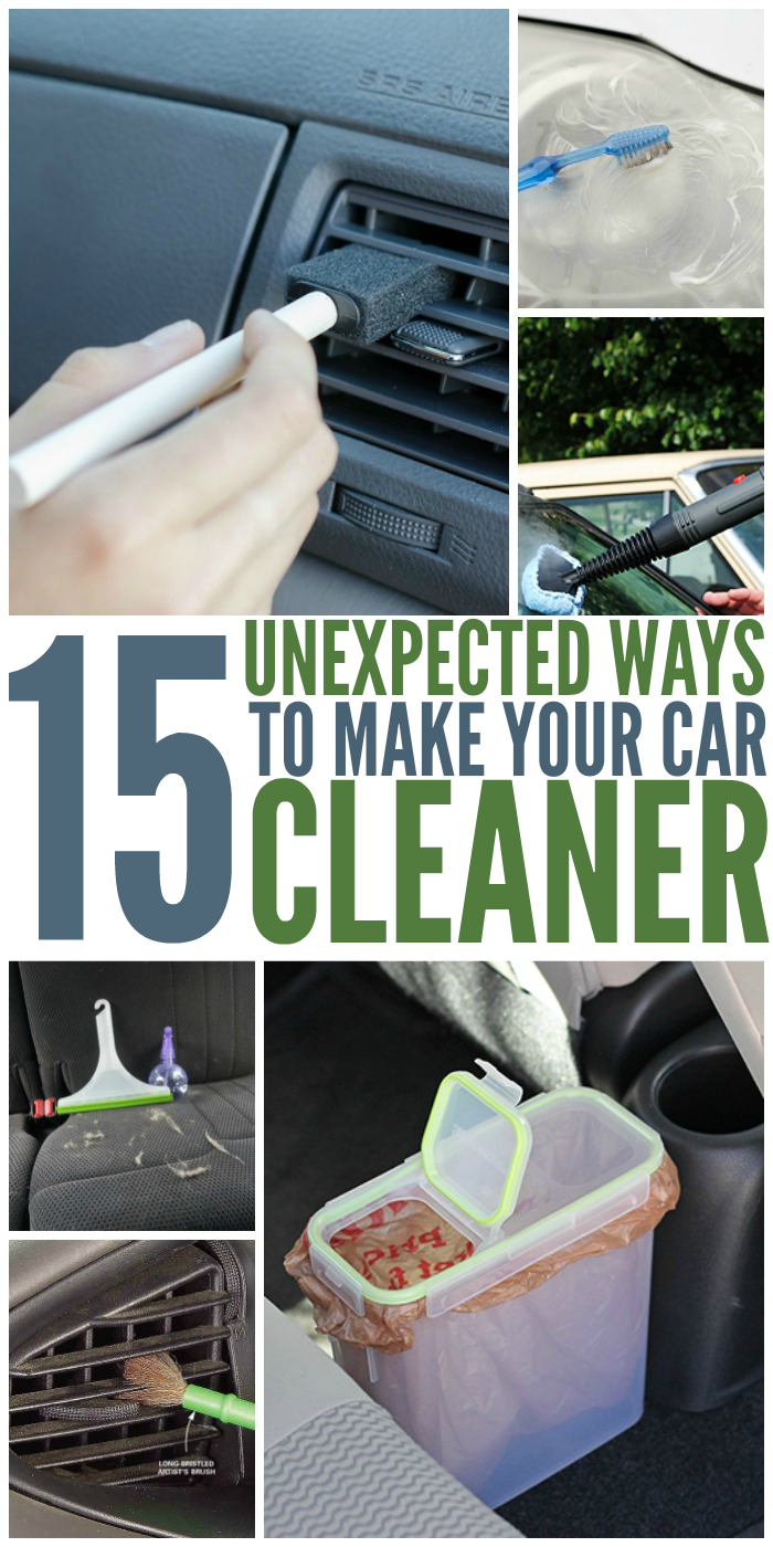 Car Care from Pinterest - 15 Unexpected Ways to Make Your Car Cleaner 10/13/2018 - 15 Unexpected Ways to Make Your Car Cleaner
